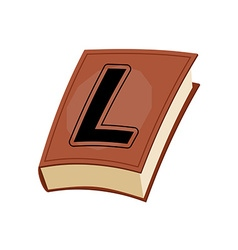 Letter L at Vintage books in hardcover vector
