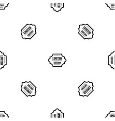 limited edition pattern seamless black vector image vector image