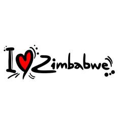 love zimbabwe vector image