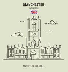 Manchester cathedral in manchester vector