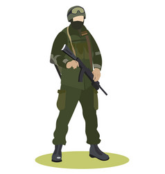 Military service soldier in uniform special vector