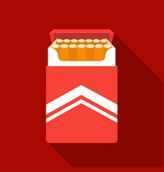 Pack of cigarettes icon in flat style isolated on vector