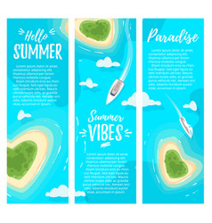 paradise islands anner template vector image