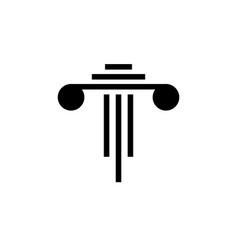Pillar attorney at law icon graphic design vector