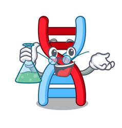professor dna molecule character cartoon vector image