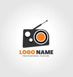 radio logo template vector image