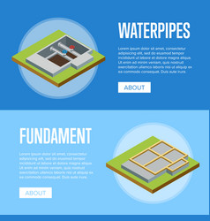 Real estate engineering isometric 3d concept vector