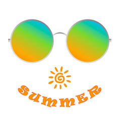 realistic sunglasses shows the pleasure of summer vector image