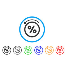 Rebate percent rounded icon vector
