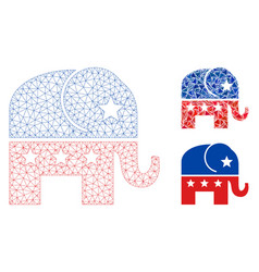 republican elephant mesh wire frame model vector image