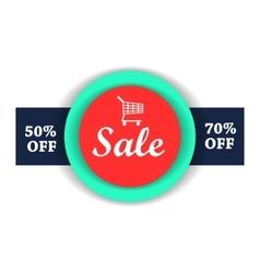 Sale flat vector