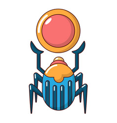Scarab icon cartoon style vector
