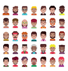 set 35 avatar icons 01 vector image