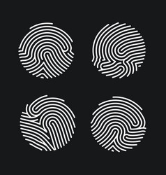 set circle fingerprint icons design for vector image