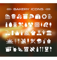 Set of bakery icons vector
