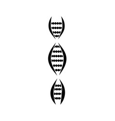 Silhouette chromosome dna genetics and vector