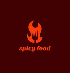 spicy food logo vector image