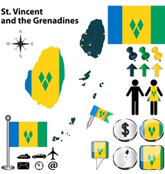 St Vincent and the Grenadines map vector image