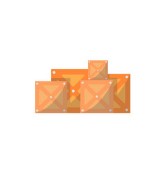 stack of delivery boxes isolated icon vector image