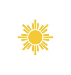 sun icon - simple element summer concept sun vector image