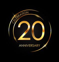 template 20 years anniversary vector image