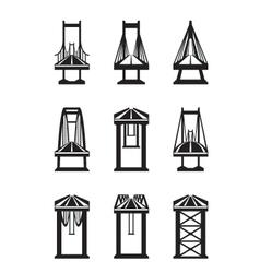 various types bridges vector image