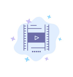 Video lesson film education blue icon on abstract vector