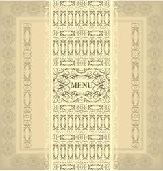 Vintage design menu vector image