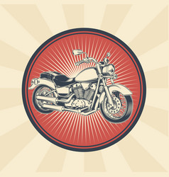 Vintage of badge sticker vector