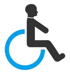 Wheelchair Flat Icon vector image vector image