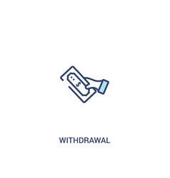 Withdrawal concept 2 colored icon simple line vector