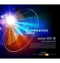 abstract background with ball vector image vector image