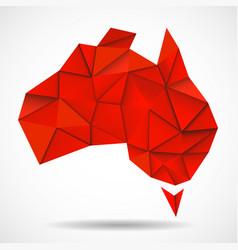 australia map in geometric polygonal style vector image vector image