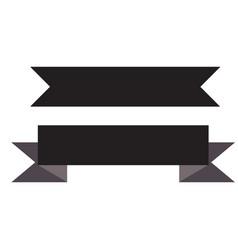 black ribbon banner on white background black vector image