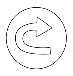 Cartoon image of repeat icon vector