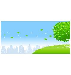 city skyline tree vector image vector image