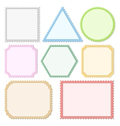 Color Postage Stamps vector image