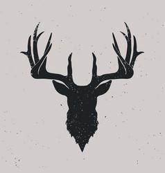 deer head silhouette vector image