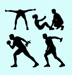 Fitness sport silhouette vector