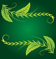 foliage corner graphics vector image vector image