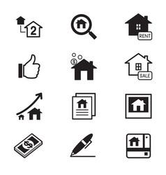 real estate icons symbol set vector image