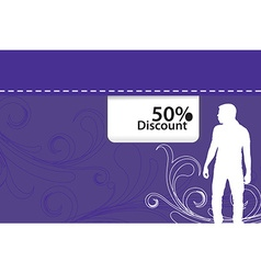 discount background vector image
