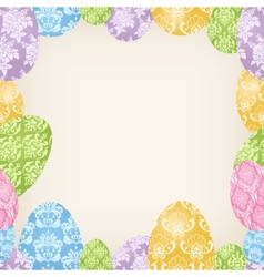 Easter Eggs frame vector image vector image