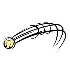 flying baseball ball icon icon cartoon vector image vector image