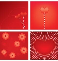heart lollipop vector image