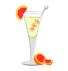 popular martini cocktail vector image