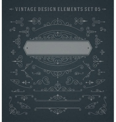 Vintage Swirls Ornaments Decorations vector image vector image
