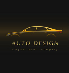 auto company yellow logo vector image vector image