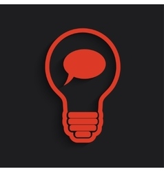 bulb with bubble vector image vector image