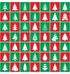 christmas tree pattern set vector image vector image